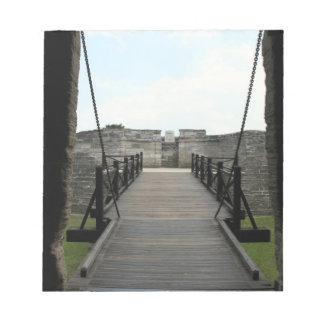 Fuerte en St Augustine que mira de castillo Libreta Para Notas