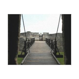 Fuerte en St Augustine que mira de castillo Lona Estirada Galerias