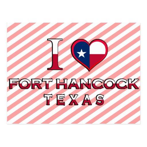 Fuerte Hancock, Tejas Postales