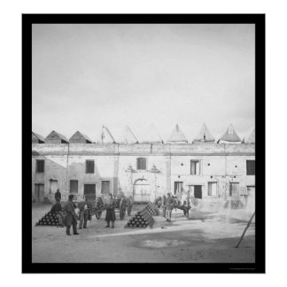 Fuerte interior Marion en St Augustine, FL 1864 Póster