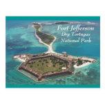 Fuerte Jefferson Tortugas seco Postal