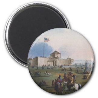 Fuerte Laramie, fuerte de Sublette, Fort William, Imán Redondo 5 Cm