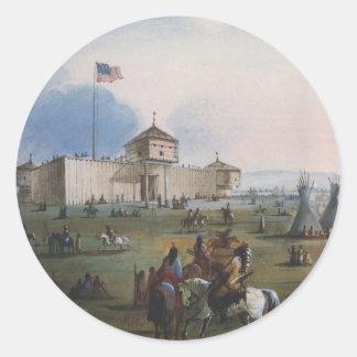 Fuerte Laramie, fuerte de Sublette, Fort William, Pegatina Redonda