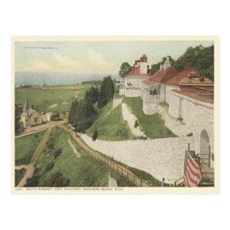 Fuerte Mackinac, isla Michigan del vintage de Mack Postales