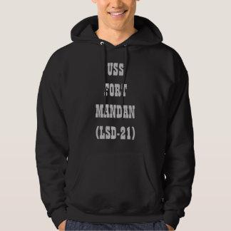 FUERTE MANDAN (LSD-21) DE USS SUDADERA ENCAPUCHADA