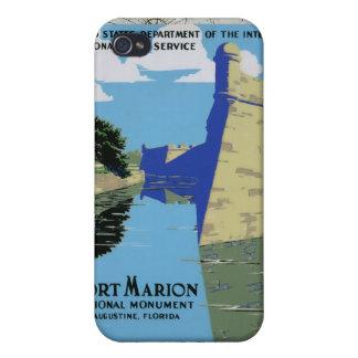 Fuerte Marion de WPA del vintage iPhone 4 Cárcasa