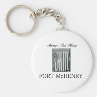 Fuerte McHenry de ABH Llavero Redondo Tipo Pin