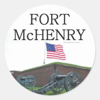 Fuerte McHenry de ABH Pegatina Redonda