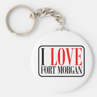 Fuerte Morgan Alabama Llavero Redondo Tipo Pin
