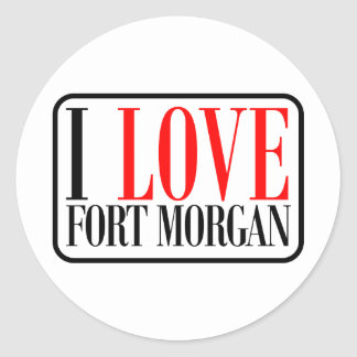 Fuerte Morgan Alabama Pegatina Redonda