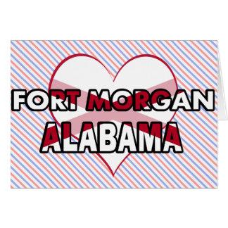 Fuerte Morgan, Alabama Tarjeta De Felicitación