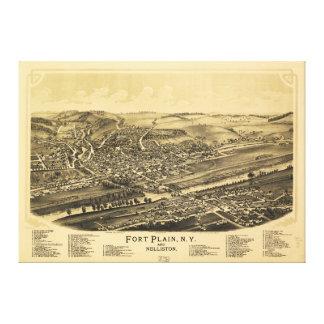 Fuerte Nueva York llana y Nelliston (1891) Impresión En Lienzo