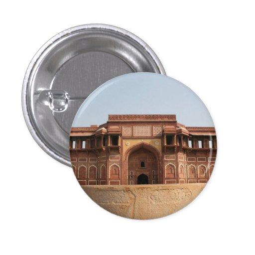 Fuerte rojo Agra la India de Jahangiri Mahal Pin Redondo 2,5 Cm