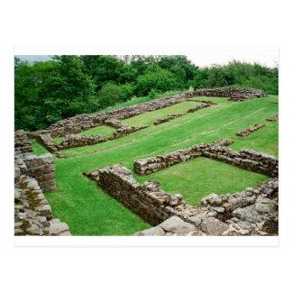 Fuerte romano en la pared de los hadrian postales