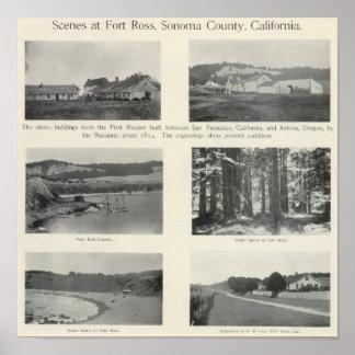 Fuerte Ross, California Póster