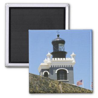 Fuerte San Felipe del Morro's grey castellated 2 Inch Square Magnet