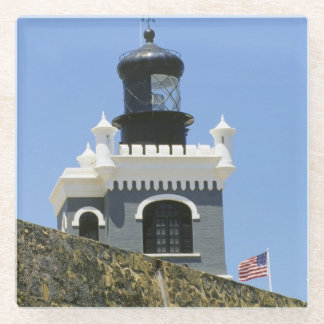 Fuerte San Felipe del Morro's grey castellated Glass Coaster