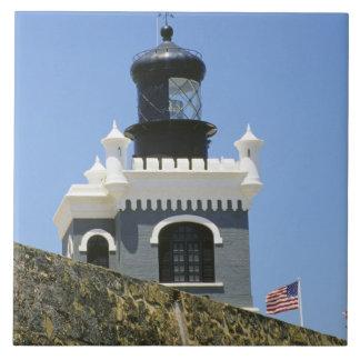 Fuerte San Felipe del Morro's grey castellated Large Square Tile