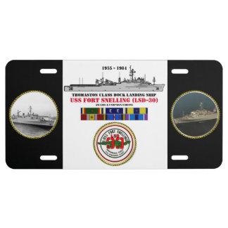 FUERTE SNELLING (LSD-30) DE USS PLACA DE MATRÍCULA