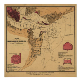 Fuerte Sumter de la guerra civil Póster