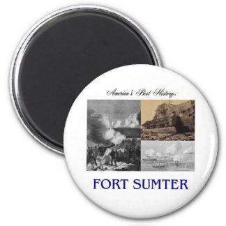 Fuerte Sumter Imán Redondo 5 Cm