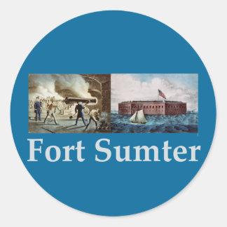 Fuerte Sumter Pegatina Redonda