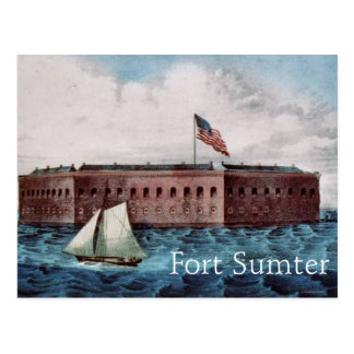 Fuerte Sumter Tarjeta Postal