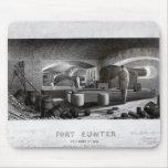 Fuerte Sumter, vista interior de la batería de arm Tapete De Ratones