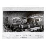 Fuerte Sumter, vista interior de la batería de Postales