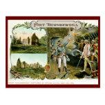 Fuerte Ticonderoga, vintage 1907 de Ethan Allen NY Postal