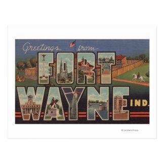 Fuerte Wayne Indiana - escenas grandes 3 de la le Tarjeta Postal