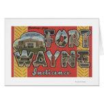 Fuerte Wayne, Indiana - escenas grandes de la letr Tarjeta De Felicitación