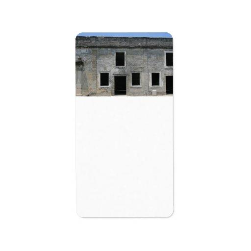 Fuerte Windows de St Augustine Etiquetas De Dirección