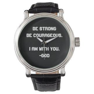Fuerte y valeroso reloj de mano
