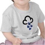 Fuertes lluvias: Símbolo retro de la previsión met Camisetas