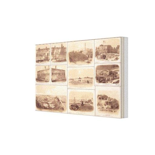 Fuertes Sumter y Moultrie, la isla de Sullivan Impresión De Lienzo