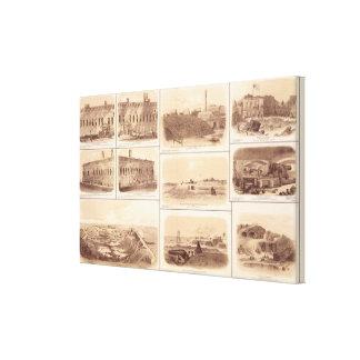 Fuertes Sumter y Moultrie, la isla de Sullivan Impresión En Lienzo