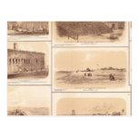 Fuertes Sumter y Moultrie, la isla de Sullivan Postal