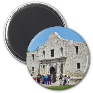 Fuertes Tejas de Álamo San Antonio Imán Redondo 5 Cm