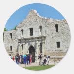 Fuertes Tejas de Álamo San Antonio Etiquetas Redondas