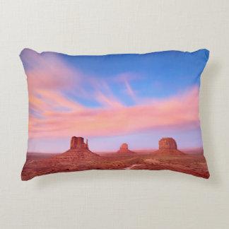 Fuertes vientos sobre el valle del desierto cojín decorativo