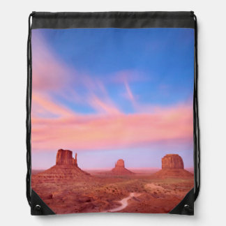 Fuertes vientos sobre el valle del desierto mochilas
