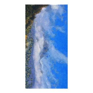 Fuertes vientos y nubes tarjeta personal con foto