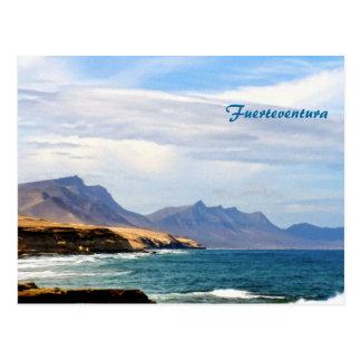 Fuerteventura, efecto de pintura postal