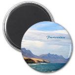 Fuerteventura, painting effect 2 inch round magnet