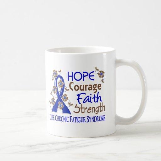 Fuerza 3 CFS de la fe del valor de la esperanza Taza Básica Blanca