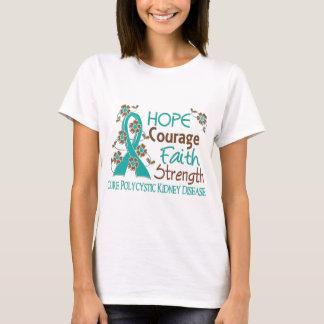 Fuerza 3 PKD de la fe del valor de la esperanza Playera
