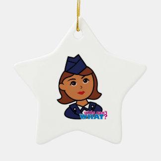 Fuerza aérea adorno navideño de cerámica en forma de estrella