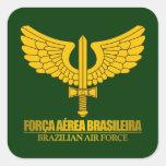 Fuerza aérea brasileña pegatinas cuadradas