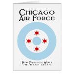 Fuerza aérea de Chicago - 9na ala del combatiente Tarjeta De Felicitación